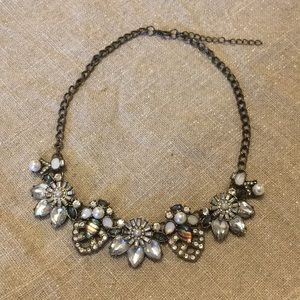 Brushed Bronze Statement Necklace